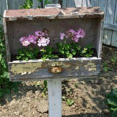 garden ideas, old drawers, bird food, old dressers, drawer planter, dresser drawers, planters, flower, planter boxes