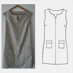 L-Estivale-MLM-Patrons - huntley. Diy Couture, Couture Sewing, Sewing Clothes, Diy Clothes, Clothing Patterns, Dress Patterns, Diy Fashion, Womens Fashion, Fashion Design