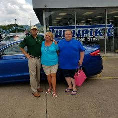 Cynthia Keeney with her son Sean and her Sales Associate, Doc Patterson. Thanks again, Cynthia 😉👍