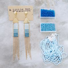 Lala  Geometric tribal inspired seed beads and chain by ALittleDot