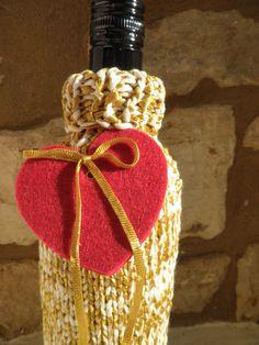 wine bottle sweater gold £8.95