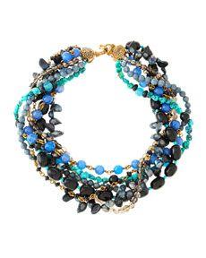 Stephen Dweck Mixed-Stone Multi-Strand Necklace