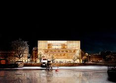 David Chipperfield's vision is for a shimmering brass-clad Nobel center