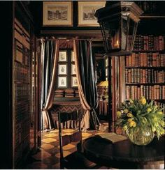 1000 ideas about old world decorating on pinterest old world old world style and tuscan decor - Home library design ideas for the book lovers ...
