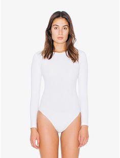 Cotton Spandex Long Sleeve 'Classic' Bodysuit