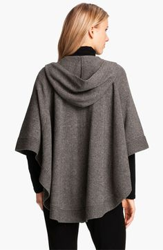 Eileen Fisher Yak & Wool Hooded Poncho | Nordstrom