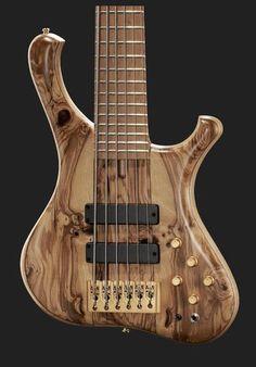 Beautiful! Marleaux Consat Custom 6 NT Olive, bass guitar 6-string #bass #guitar…