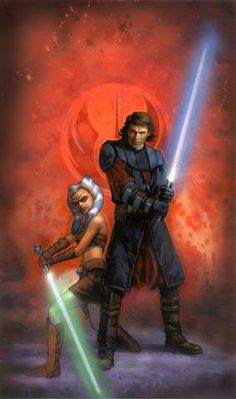 Ahsoka and Anakin by Terese Nielsen