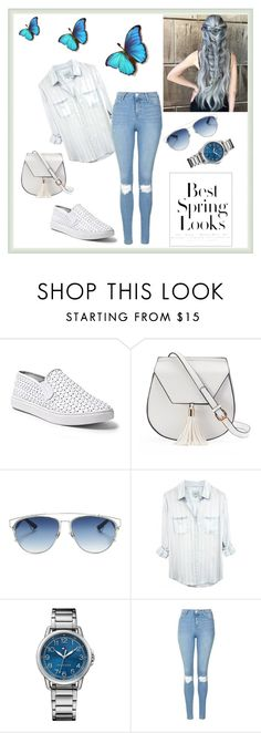 """""""Untitled #4"""" by dzanab ❤ liked on Polyvore featuring Steve Madden, Yoki, Christian Dior, Tommy Hilfiger, Topshop and H&M"""
