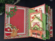 Graphic 45 Twas The Night Before Christmas   mini album tutorial.  By Anne Rostad