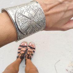 The Mala cuff bracelet in Mexico 👌🏼🐚 www.sololu.com #sololu