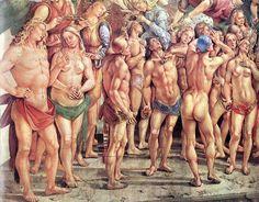 Luca signorelli, cappella di san brizio, eletti in paradiso 03 - Cappella di San Brizio - dettaglio