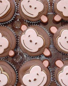 Monkey cupcakes (for birthday)