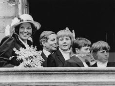 30th April 1981, Queen Beatrix of the Netherlands with her husband Prince Claus and their sons Prince Willem-Alexander, Prince Constantijn and Prince Johan Friso, in Veere, Netherlands, during Queensday or Koninginnedag, the official birthday of Queen Beatrix.