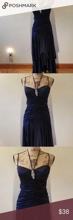 Spotted while shopping on Poshmark: Navy Blue Gown! #poshmark #fashion #shopping #style #Dresses & Skirts