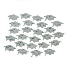 Silver Graduation Hat Confetti - OrientalTrading.com