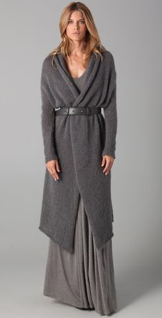 Cardigan Coat with Belt