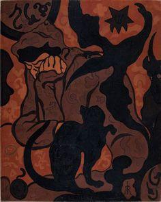 Paul-Elie Ranson: La Sorcière au chat noir, 1893.