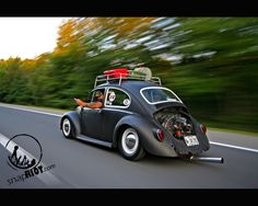 VW Bug.  Love a rack on bugs! So cool!