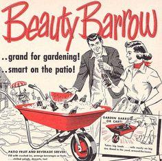 Beauty Barrow...grand for gardening, smart on patio!