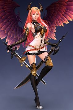 Bahamut Dark Angel Olivia 3D Art by Shin JeongHo SHIN JEONGHO is a 3D Character Artist from An-Yang,