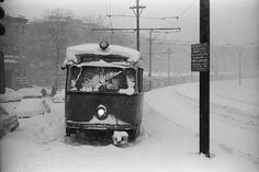 FLASHBACK: Stuck PCC Streetcars during the Blizzard of '78. MBTA Boston | BostInno