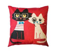 Cats Toss Pillow – Meowingtons