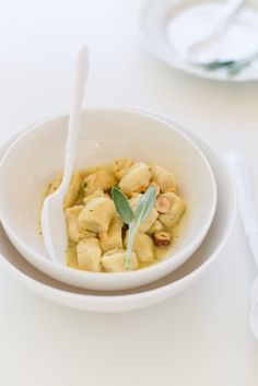 Ricotta Gnocchi with hazelnuts and sage | Au Petit Goût