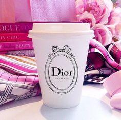Dior fashion pink coffe