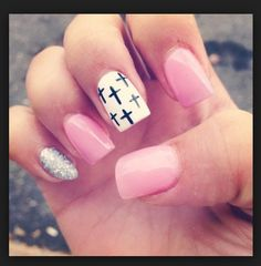 Think these are cute also just not the pinky I would have squared it like the  rest of my nails...!!