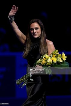 Peggy Fleming is introduced during the Smucker's Skating Spectacular...