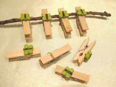 Holzklammer, Dekoklammer mit Schmetterling,Bastelmaterial,8 Stück, 3,5cm x 0,5cm
