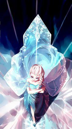 girlsbydaylight:  雪の女王 by f3d on pixiv
