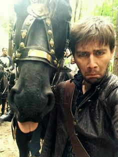 Selfie with Sid the horse on set. Aw! Haha, I love this. I take selfies like…