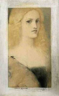 Venetian Memory (pastel & pencil on canv - Fernand Khnopff as art print or hand painted oil. Pastel Pencils, Oil Portrait, Canvas Prints, Art Prints, Best Artist, Contemporary Artists, Painting & Drawing, Printmaking, Mythology