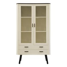 Scandinavian Style Display Cabinet  - This elegant and stylish range from Furniture To Go made in Europe comprises Sideboard, TV Cabinet and Display Cabinet in a choice of 2 different colours, and is sure to make a great addition to any living room.
