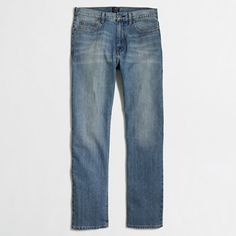 Crew Factory for the Barrow jean in light wash for Men. Find the best selection of Men Pants available in-stores and online. Discount Mens Clothing, J Crew Style, Kids Outfits, Mens Fashion, Suits, Clothes For Women, Denim, Stylish, Jeans