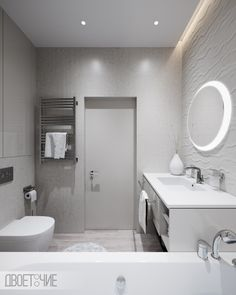 Fresh interior in Royal Tower in Kyiv on Behance Bathroom Lighting, Tower, Mirror, Interior, Furniture, Behance, Fresh, Home Decor, Bathroom Light Fittings