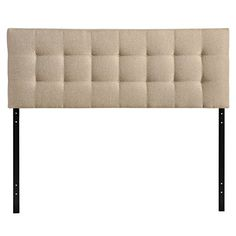 Modway Lily Upholstered Tufted Fabric Headboard Queen Size In Beige – A Luxury Bed – Silk Sheets Bedspreads Luxury Bedding Fabric Headboard Queen, Linen Headboard, Diy Headboards, Full Headboard, Rustic Bedding, Platform Bed Frame, Queen Size Bedding, Bed Styling, Upholstery