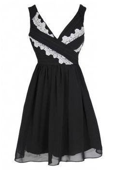 Think Greek Pleated Chiffon Designer Dress by Minuet in Black