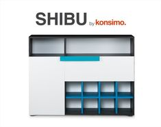 Komoda SHIBU mŁodzieŻ - grafit/biały/niebieski Kitchen Appliances, Home, Design, Diy Kitchen Appliances, Home Appliances, Ad Home, Homes, Kitchen Gadgets