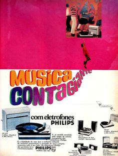 Eletrofones Philips, #Brasil  #anos60  #retro