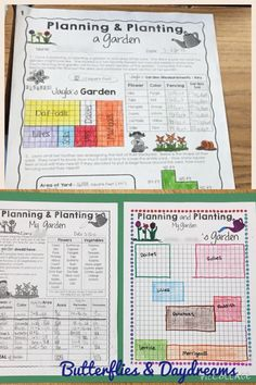 Gardening With Area Amp Perimeter Math Project Elementary Math Resources, Math Activities, Math Games, Math Math, Math Fractions, Maths Area, Area And Perimeter, Math Measurement, Fourth Grade Math
