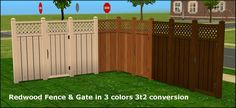 2 sets of fences and gates. Both sets come in 3 colors. Download REDWOOD set Download PATIO set I very much thank those kind people who taught me to make shorter links!!! :)
