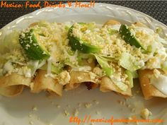Pretty authentic looking tacos dorados (fried tacos). The potato-poblano filling sounds good; I thought Taco Bell made up the potato taco thing, but I guess not!