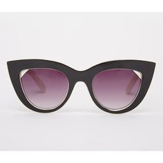 ASOS Flat Top Cat Eye Sunglasses With Cut Away Lens (€17) ❤ liked on Polyvore