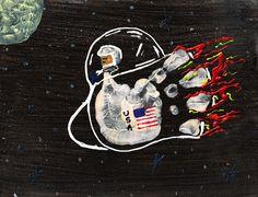 Handprint Space Shuttle Rocket Craft