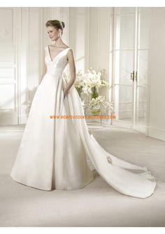 Robe de mariée 2013 avec traine détachable satin perles