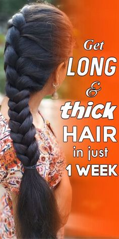 Tips For Thick Hair, Long Hair Tips, Grow Long Hair, Beauty Tips For Hair, Long Hair Growing Tips, Thick Long Hair, Beauty Hacks, Make Hair Grow Faster, Faster Hair Growth