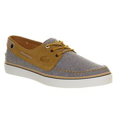 Lacoste Sumac Grey Mustard - His trainers